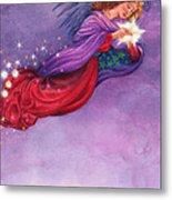 Twinkling Angel Metal Print