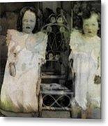Twins Julia And Jim Cannon Circa 1903 Metal Print
