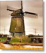 Twiske Windmill Metal Print