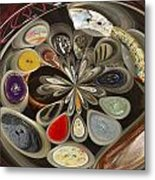 Twisted Button Metal Print