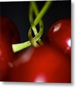 Twisted Cherries Metal Print