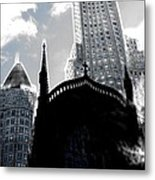 Twisted City Metal Print