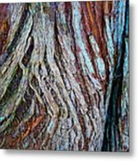 Twisted Colourful Wood Metal Print