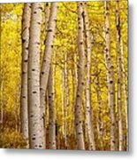 Twisted In Yellow Metal Print