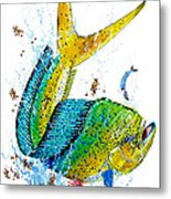 Twisted Mahi Metal Print