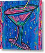 Twisted Martini Metal Print