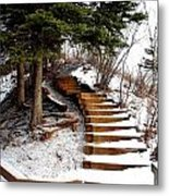 Twisted Staircase Metal Print