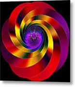 Twisting Colors Metal Print