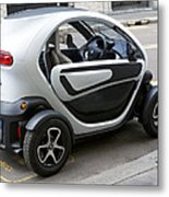 Twizy Rental Electric Car Side And Back Milan Italy Metal Print