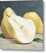 Two And A Half Pears Metal Print