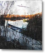 Two At The Dock Metal Print