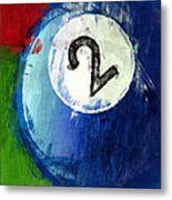 Two Ball Billiards Abstract Metal Print