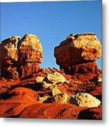 Two Big Rocks At Capital Reef Metal Print by Jeff Swan
