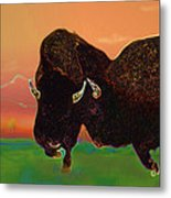 Two Bison Metal Print