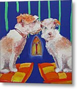 Two Border Terriers Together Metal Print
