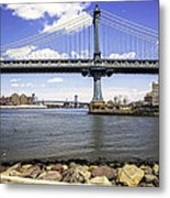 Two Bridges View - Manhattan Metal Print