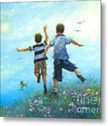 Two Brothers Leaping Metal Print