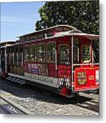 Two Cable Cars San Francisco Metal Print