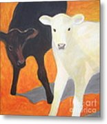 Two Calves Metal Print