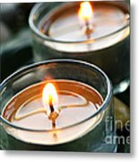 Two Candles Metal Print