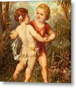 Two Cherubs Metal Print