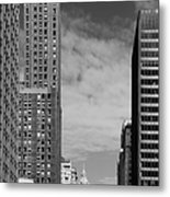 Two Chicago Classics- Carbide And Carbon And Wrigley Building Metal Print by Christine Till
