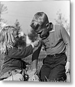 Two Children Metal Print by Hans Namuth