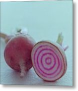 Two Chioggia Beets Metal Print