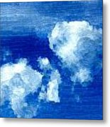 Two Clouds In The Sky Metal Print