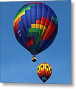 Two Colorful Balloons Metal Print