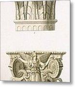 Two Column Capitals Metal Print