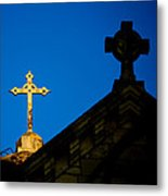 Two Crosses In Jerusalem Metal Print