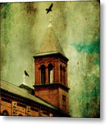 Two Crosses Two Crows Metal Print