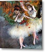 Two Dancers Entering The Scene Metal Print