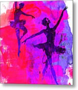 Two Dancing Ballerinas 3 Metal Print