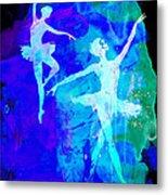 Two Dancing Ballerinas  Metal Print