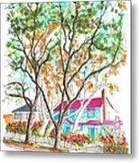 Two Dark Trees In West Hollywood -california Metal Print