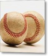 Two Dirty Baseballs Metal Print