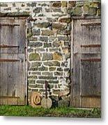 Two Doors On A Barn Metal Print