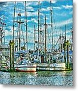 Two Fishing Boats Hdr Metal Print
