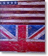 Two Flags American And British Metal Print