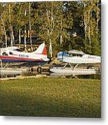 Two Float Planes On Moosehead Lake Near Greenville Maine  Metal Print