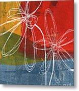 Two Flowers Metal Print by Linda Woods