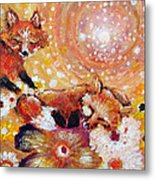Two Foxes You Have A Friend In Me Metal Print