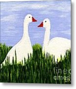 Two Geese Metal Print