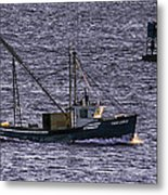 Two Girls And A Buoy Metal Print