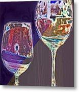 Two Glasses  Metal Print