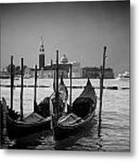 Two Gondolas Metal Print