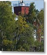 Two Harbors Mn Lighthouse 20 Metal Print