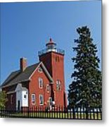 Two Harbors Mn Lighthouse 24 Metal Print